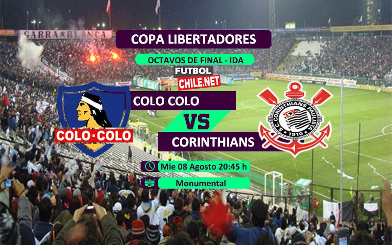 Mira Colo Colo vs Corinthians en vivo y online por los octavos de final de la Copa Libertadores 2018