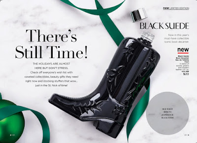 avon catalog black suede boot decanter