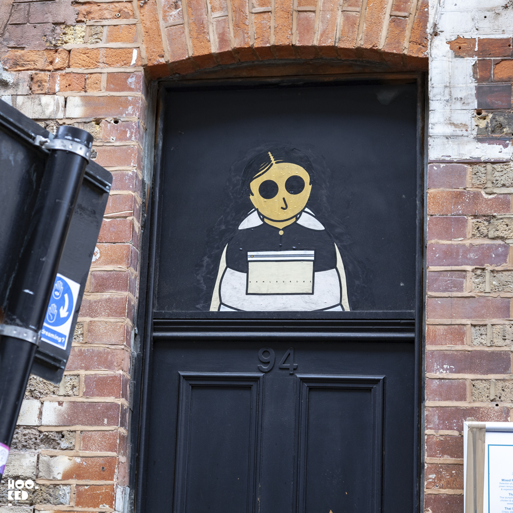 Brick Lane Street Art, French Street Art Duo Kamlaurene Paste-ups in London