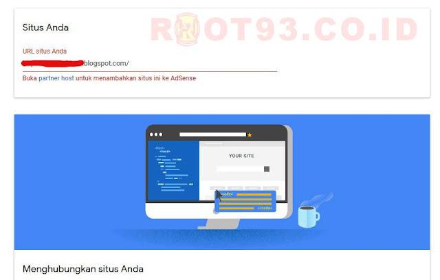 """Mengatasi Masalah """"Buka partner host untuk menambahkan situs ini ke Adsense"""""""
