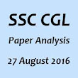 SSC CGL 27 August 2016 Paper Analysis Subject and Shift Wise