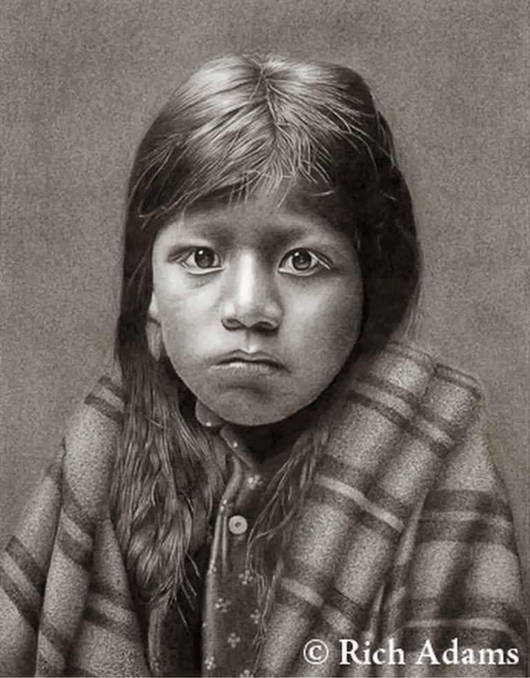 Pintura Moderna Y Fotografía Artística Bellos Dibujos De Indios A