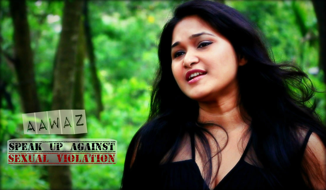"Queen Hazarika in ""Aawaz - speak up against sexual violation"""
