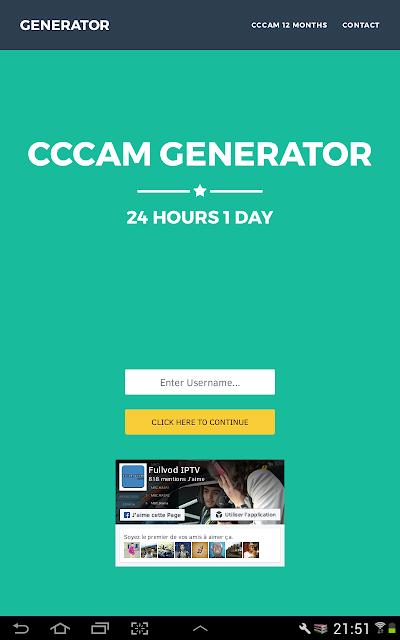 Free cccam Generator
