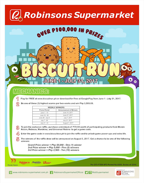 More than P100,000 up for Grabs in Robinsons Supermarket's Biscuit Run