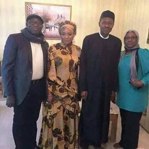 New Photo of Buhari, Aisha and Fayemi In London