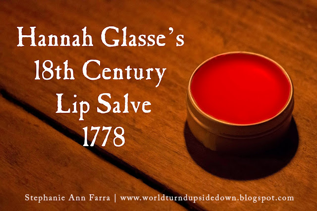 18th century Colonial Lip Balm Chapped Lips Remedy