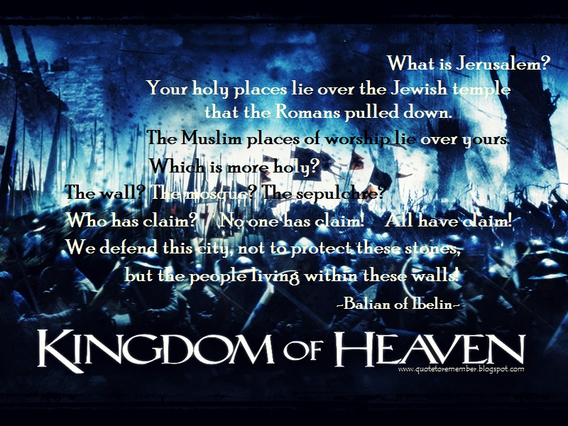 Kingdom of Heaven..... magnificent movie | Great Movie ...