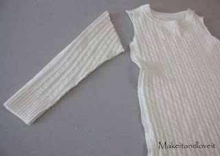 Old sweater to baby gown