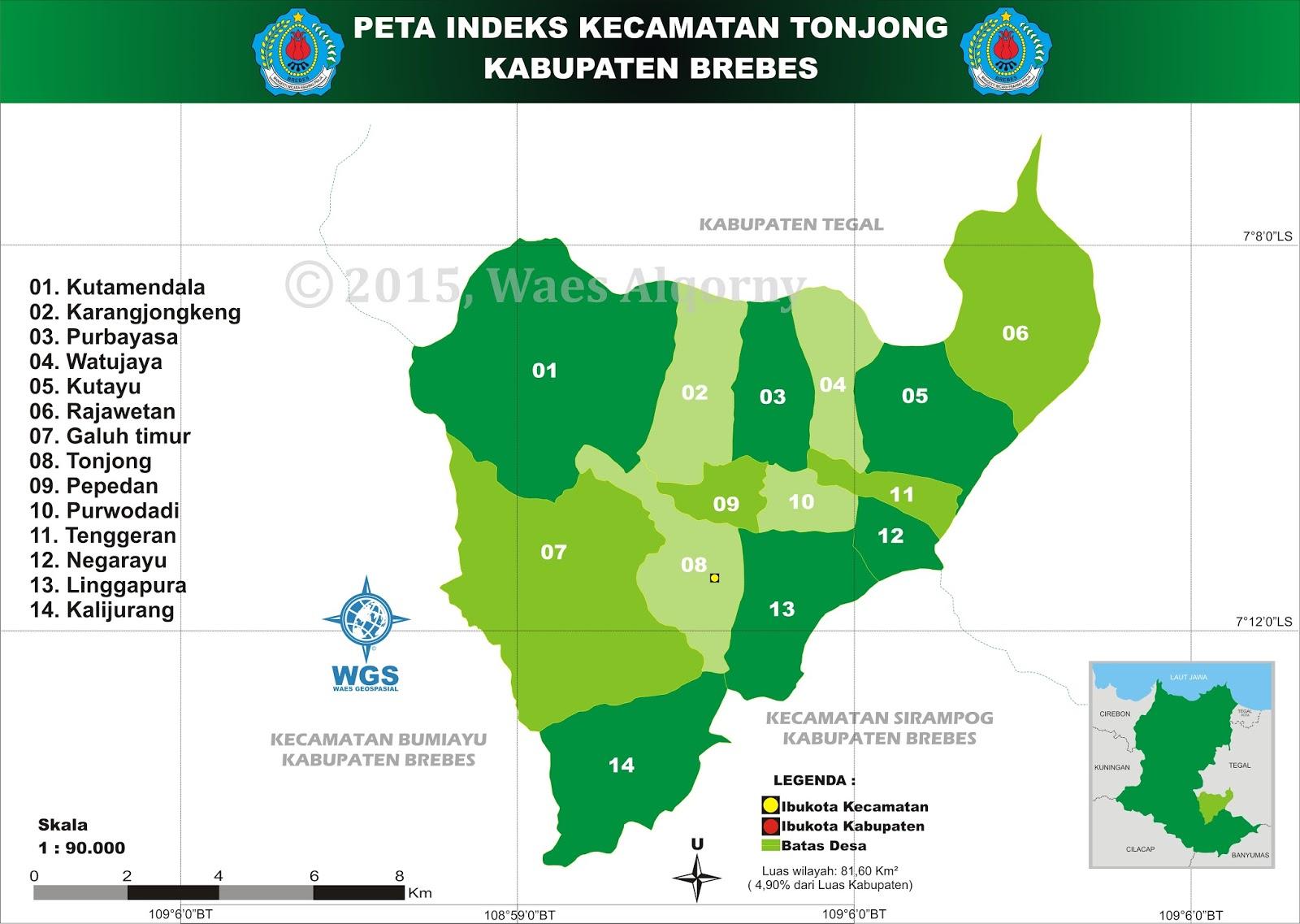 Peta Indeks Kecamatan Tonjong - Brebes - My Diary