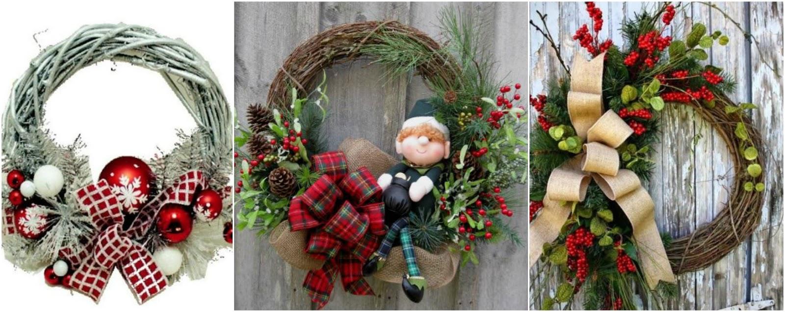 Aprende paso a paso c mo hacer coronas navide as con ramas mimundomanual - Como hacer coronas navidenas ...