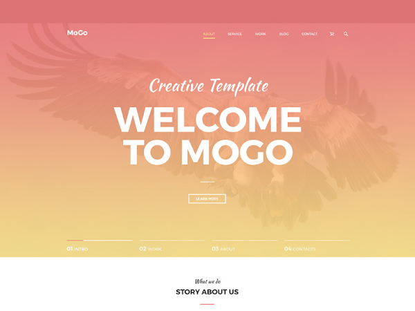 Download MoGo One Page PSD Website Template Free