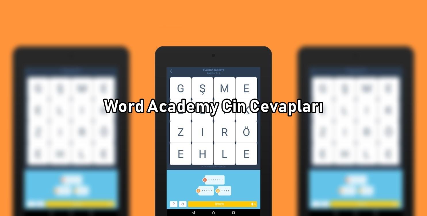 Word Academy Cin Cevaplari