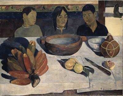 Paul Gauguin - le Repas ou les banaes,1891.