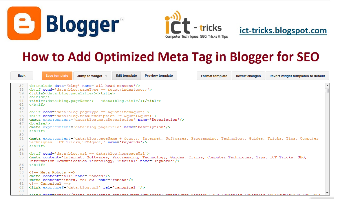 How to Add Optimized Meta Tags in Blogger for SEO