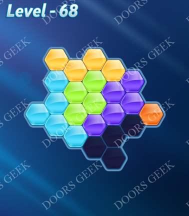 Block! Hexa Puzzle [Rainbow A] Level 68 Solution, Cheats, Walkthrough for android, iphone, ipad, ipod