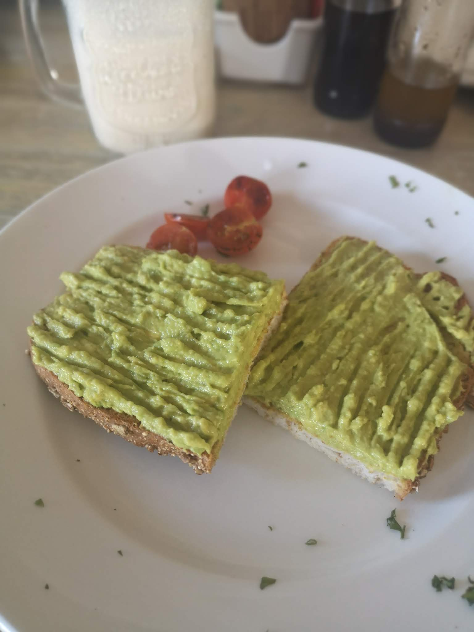 Avocado toast at Antique Cafe in Durban