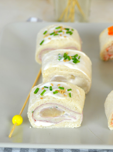 Rollitos de canapés con pan de molde ¡3 ideas de aperitivo rápidas y fáciles!