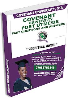 covenant university post utme subjects, covenant university post utme past questions and answers,