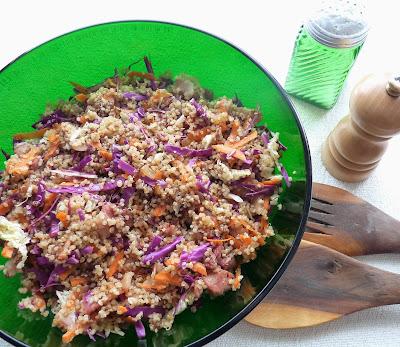 Cabbage, Quinoa, & Bacon Salad
