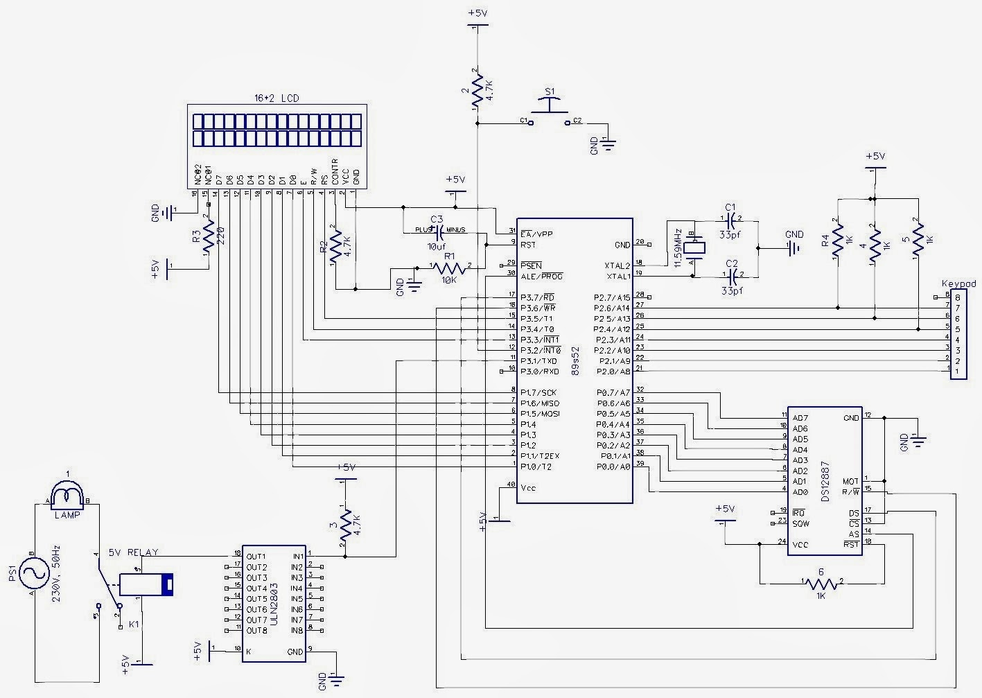 circuit diagram parallel lines