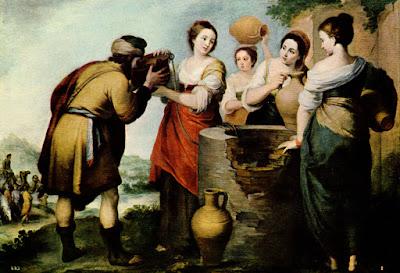 Postal: Rebeca y Eliecer Museo del Prado. Editorial OFFO