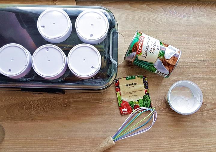 Zutaten zum Kokosjoghurt selbermachen