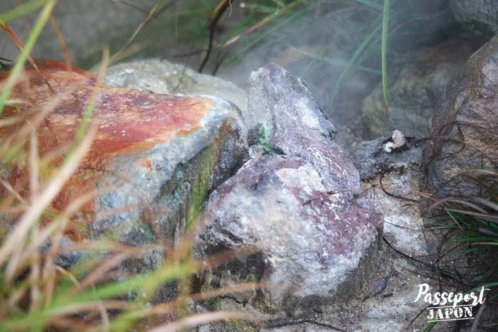 Rochers attaqués par le soufre, Bôzu Jigoku, Beppu, Oita
