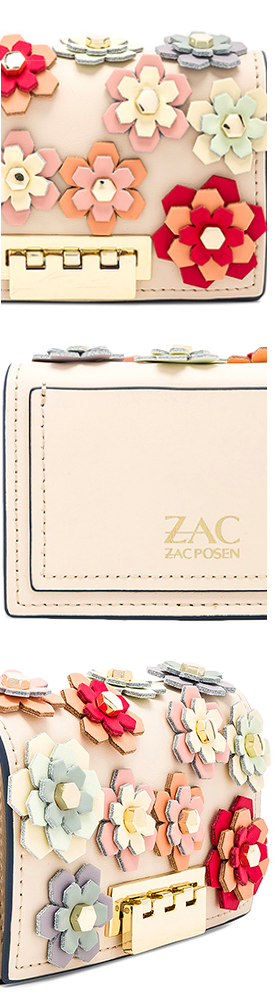 ZAC ZAC POSEN EARTHETTE CARD CASE CROSSBODY