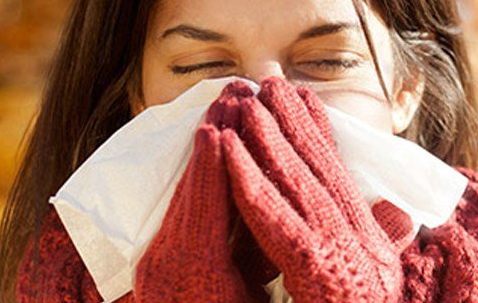Woman With a Cold and Flu