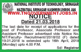 NIT-Srinagar-Faculty-Recruitment-tngovernmentjobs-in