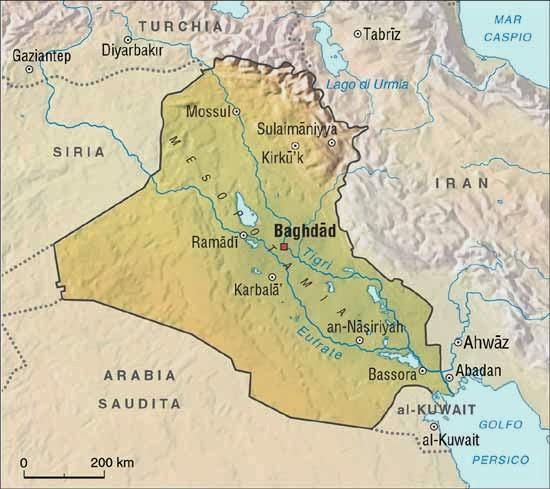 Cartina Iraq.Iraq Capitale Mappa