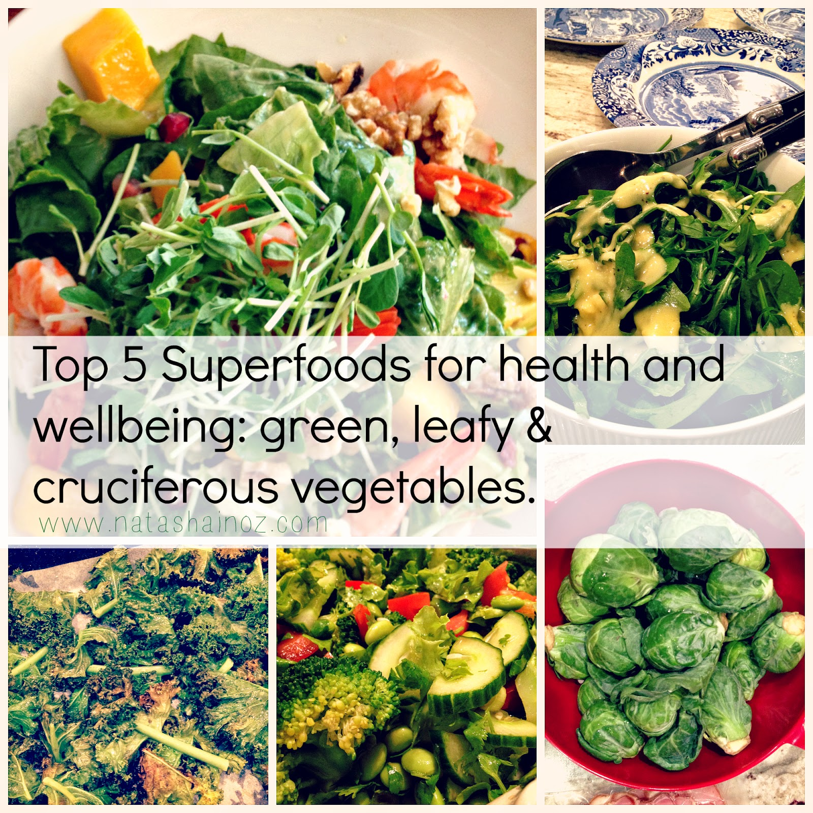 Top 5 Superfoods For Health and Wellbeing, Natasha in Oz, green leafy vegetables