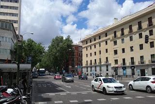 La calle Princesa, prolongación de la Gran Vía, es una de las más transitadas por vehículos.