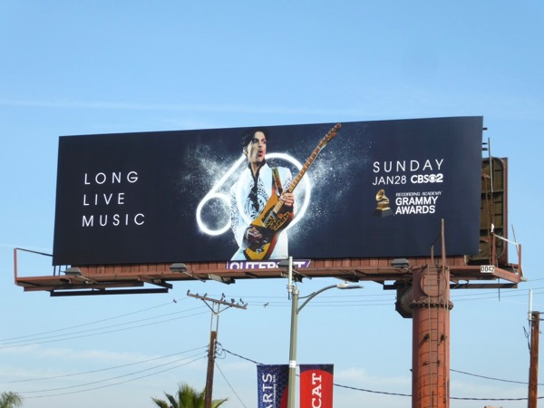 Prince 60th Grammy Awards billboard