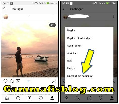 Cara Menonaktifkan Kolom Komentar Instagram