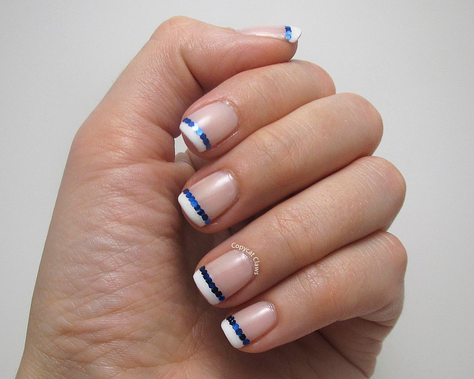 Copycat Claws: Glequin French Manicure