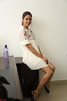 Lavanya Tripathi in Summer Style Spicy Short White Dress at her Interview  Exclusive 150.JPG