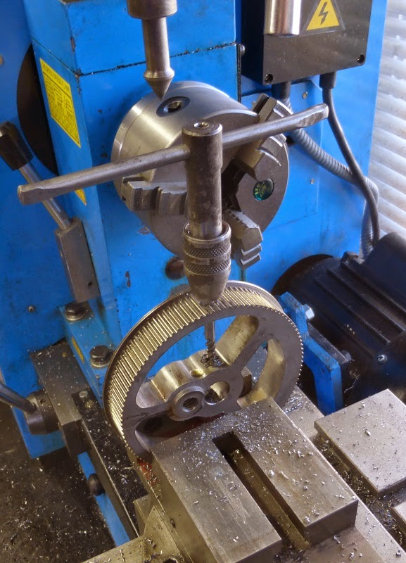 tapping flywheel set screw hole