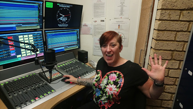 Live on Chorley FM : Wake Up To The Weekend - working the desk at the radio station