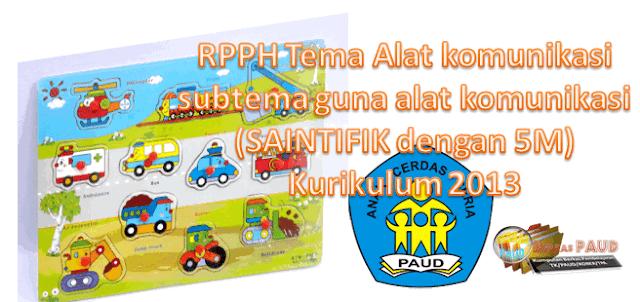 RPPH Tema Alat komunikasi subtema guna alat komunikasi (SAINTIFIK dengan 5M)