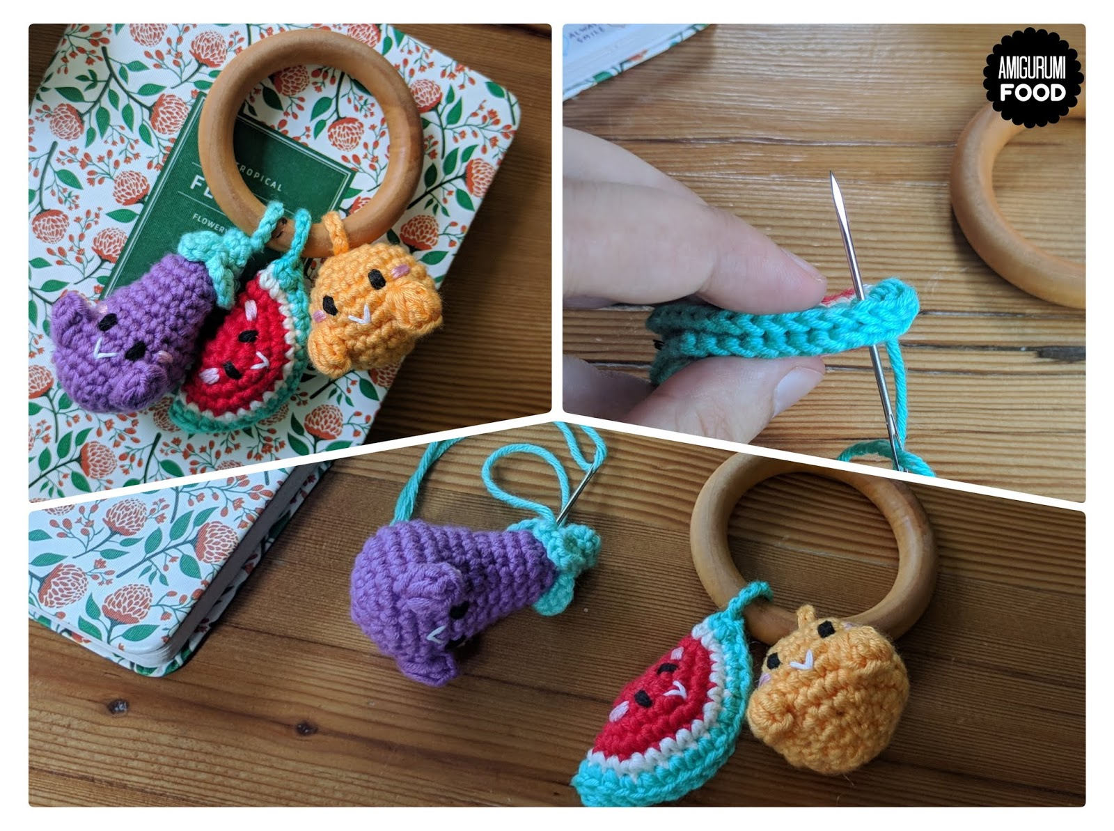 Baby Teether 1pc Animal Crochet Wooden Ring Rattle Wooden Teether ...   1193x1600