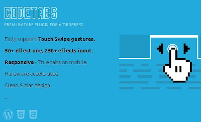 CodeTabs v3.0.3 Responsive Wordpress Swipe Tabs