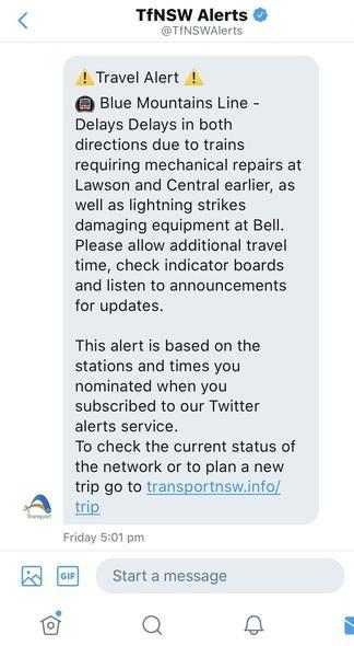 twitter, train information
