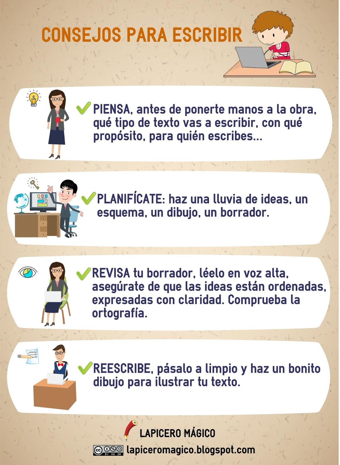 LAPICERO MÁGICO: Infografía Consejos para escribir - photo#6