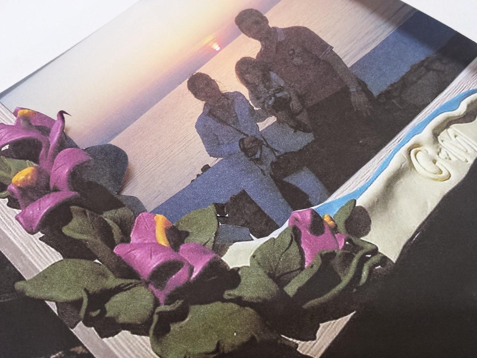 Cornice fiori bouganville Fimo
