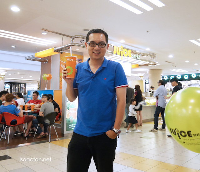 Hoping with exercise and a better diet, together with Juice Works,  I'll be able to stay healthy.
