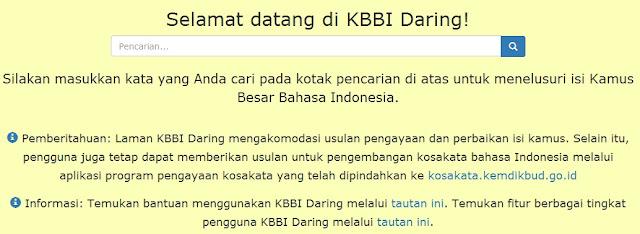 KBBI Online Edisi Kelima