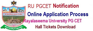 RU PGCET 2017 Notification Rayalaseema University PGCET 2017 Online Application