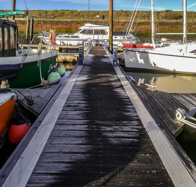 Photo of frost is still visible on the pontoon after Phil salted it Wednesday morning